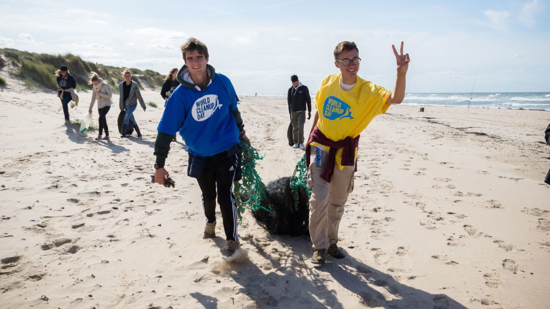 World CleanUp Day Nettoyage de la plage
