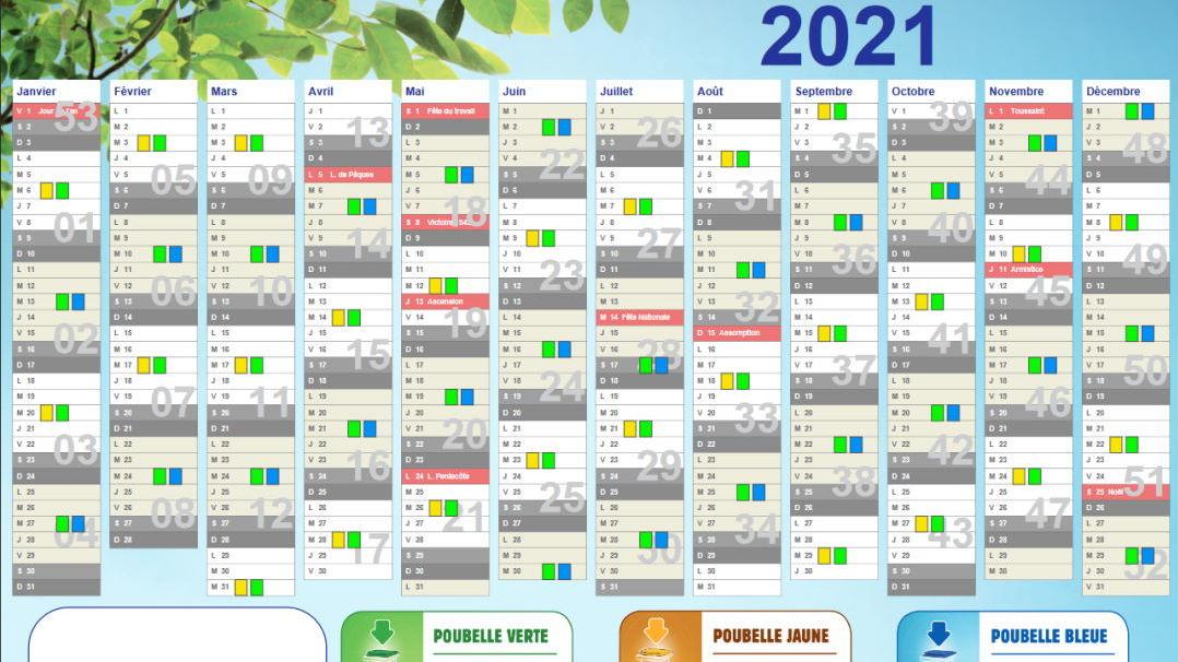 Calendrier Ramassage Poubelle 2022 Téléchargez le calendrier 2021 de collecte de vos déchets