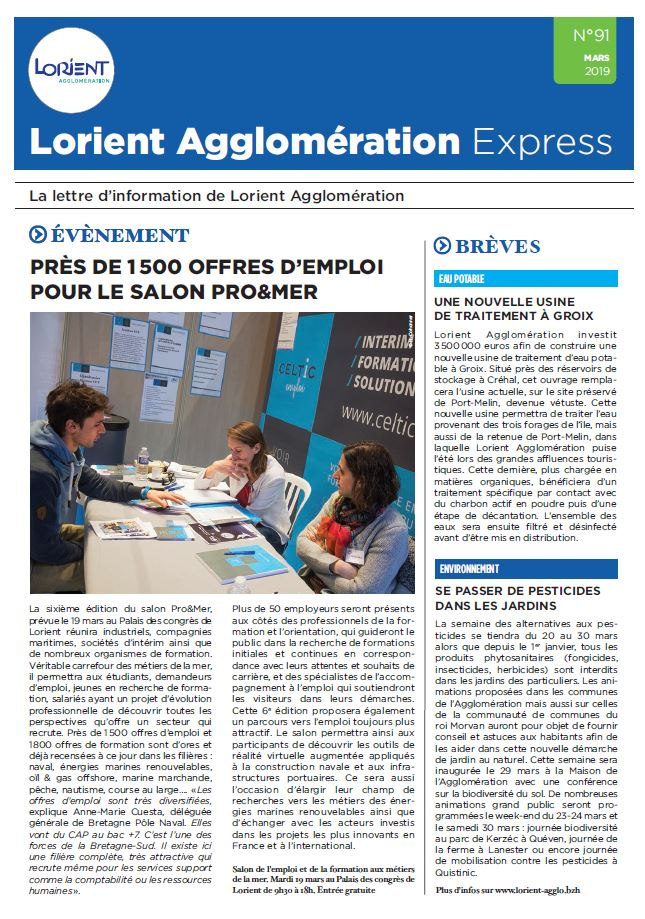 Lorient Agglomération Express N°91 - mars 2019