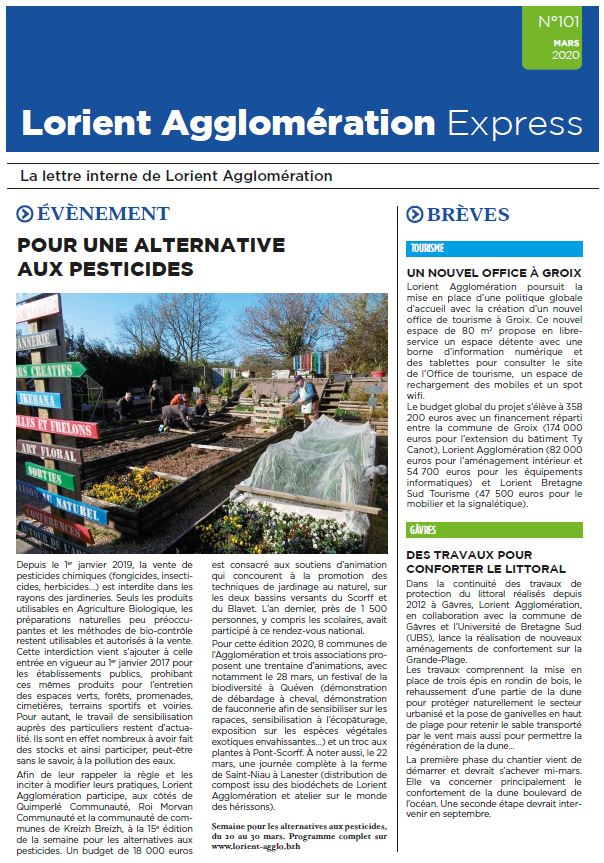 Lorient Agglomération Express N°101 - mars 2020