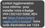 SMS d'activation